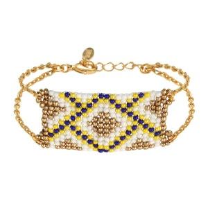 Bracelet perles et finition chaine dorée AMAHLE