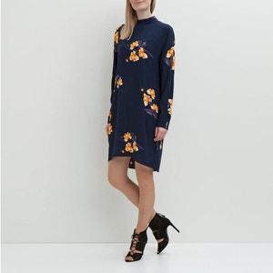 High Neck Floral Print Dress VILA
