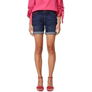 Short en jean denim, coupe 5 poches ESPRIT