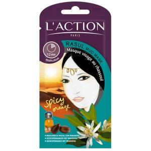 Masque rhassoul  Purifiant & régénérant - Tous types de peaux - 12 g L'ACTION PARIS