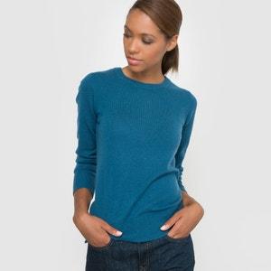 Long-Sleeved Round Neck Cashmere Wool Jumper R essentiel