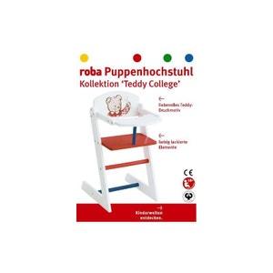 Roba 98834 Chaise haute pour poupées, Collection Teddy College ROBA