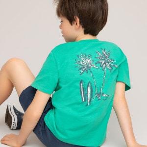 Camiseta con estampado de palmeras en la espalda 3-12 años