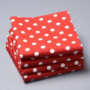 Lote de 4 guardanapos às bolas, puro algodão, GARDEN PARTY La Redoute Interieurs