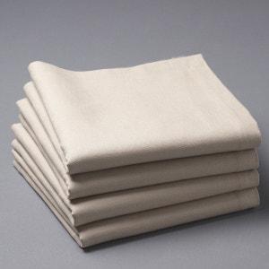 Confezione da 4 tovaglioli in tessuto misto lino, BORDER La Redoute Interieurs