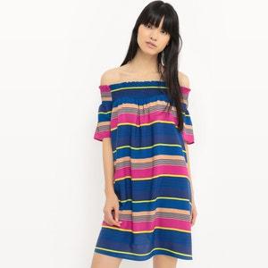 Striped Cold Shoulder Dress R édition