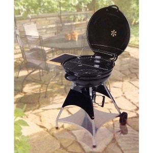 Barbecue cuve fonte charbon de bois la redoute - Barbecue electrique sur pied avec couvercle ...