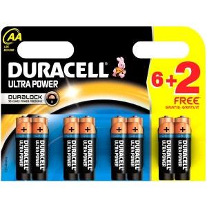 Pile DURACELL ULTRA POWER LR06 AA 6+2 DURACELL