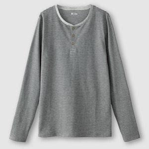 Shirt, gestreift, Henley-Ausschnitt R édition
