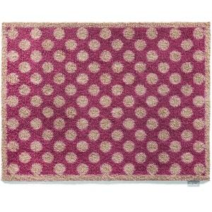 Tapis en fibres naturelles à pois 65x85 cm JARDINDECO