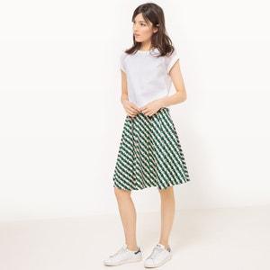 Falda con estampado geométrico, evasé MADEMOISELLE R
