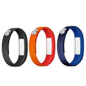 Sony Bracelets Classique L Noir/Marine/Rouge Lot de 3 bracelets de taille L pour Sony SmartBand SONY