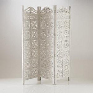 Kamerscherm 3 panelen, moucharabieh wijze, witte kleur, Aima La Redoute Interieurs