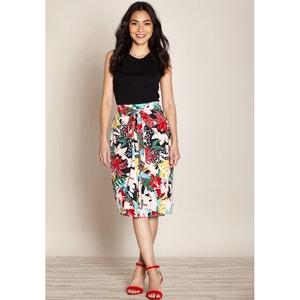 Floral Print Wrapover Skirt YUMI