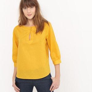 Blusa de lino con mangas bombachas atelier R