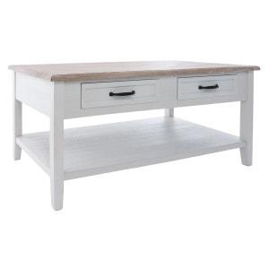 Table basse 4 Tiroirs Damian - 110 x 60 x 45 cm - Blanc ATMOSPHERA
