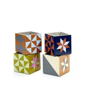 4 Pots Béton Cubique Marie Print 11 x 11 x 11 cm Serax SERAX