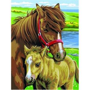 Peinture par n° débutant duo - Lot de 2 Chevaux - OZIPBNJ41026 OZ INTERNATIONAL