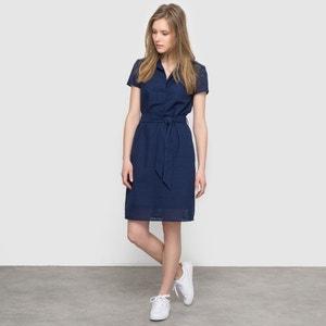 Vestido direito, bordado inglês atelier R