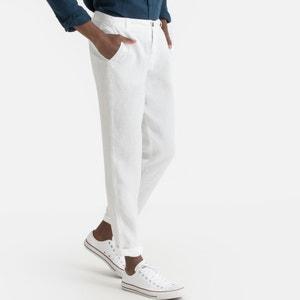 Slim broek in zuiver linnen