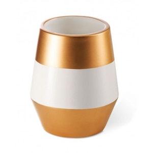 Bougie parfumée céramique bicolore blanc/or cuivré 80h thé rare BOUGIES LA FRANÇAISE