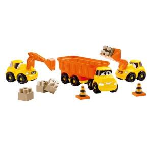 Ensemble de 3 véhicules de chantier Fast truck Abrick ECOIFFIER