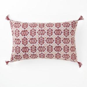 Terrington Cotton Satin Printed Cushion Cover La Redoute Interieurs
