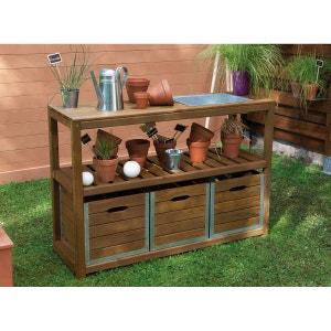Table de préparation teintée brun JARDIPOLYS JARDIPOLYS