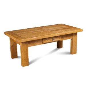 Table basse rectangle LA BRESSE - bois chêne massif HELLIN, DEPUIS 1862