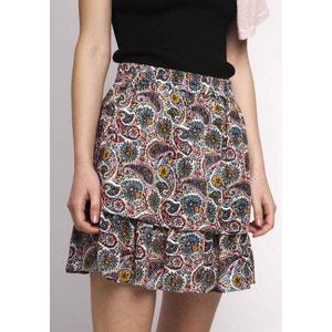 Krótka sukienka z falbankami, gumka w pasie COMPANIA FANTASTICA