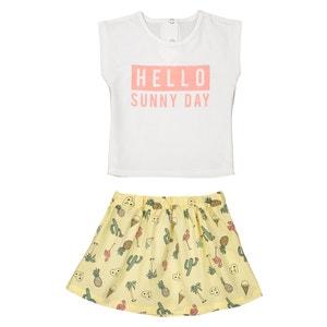Conjunto de camiseta y falda para bebé, 1 mes - 3 años La Redoute Collections