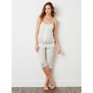 Pyjama détail dentelle grossesse et allaitement Colline by Vertbaudet