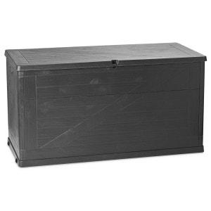 Coffre de rangement Wood - 420 L - Gris ATMOSPHERA