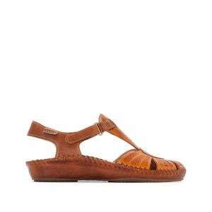 P. Vallarta 655 Leather Wedge Sandals PIKOLINOS