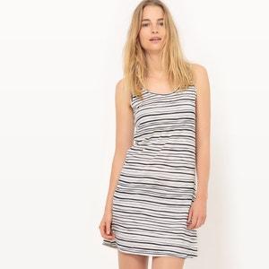 Gestreepte jurk zonder mouwen, bio katoen La Redoute Collections