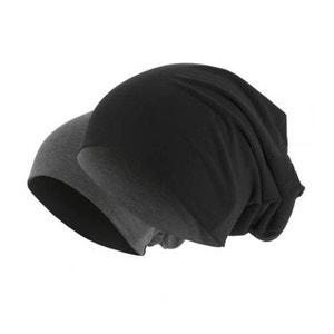 Bonnet Reversible Jersey Noir - Charbon MASTERDIS Beanie Stretch URBAN CLASSICS