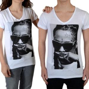 Tee Shirt Little Eleven Paris Lil SS Mixte (Garçon / Fille) Lil Wayne Blanc LITTLE ELEVENPARIS