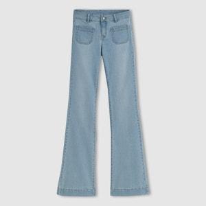Stretch Cotton Flared Jeans R studio