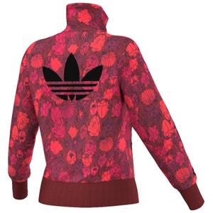 Floral Print Zip Up Jacket ADIDAS