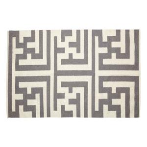 Tapis  naturel laine Labyrinthe Hübsch 120 x 180 cm HUBSCH