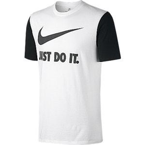 T-shirt met ronde hals en bedrukt motief vooraan NIKE