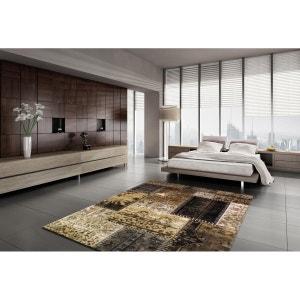 Tapis style patchwork beige pour intérieur Cactus ALLOTAPIS