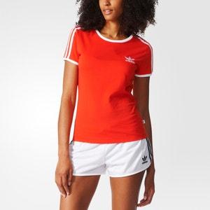 T-shirt com gola redonda, lisa ADIDAS