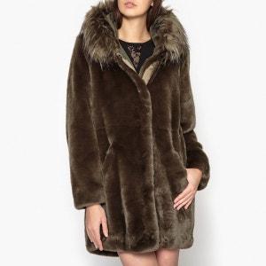 Manteau à capuche aspect fourrure LIU JO