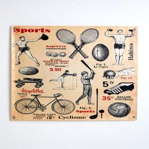Affiche vintage thème sport, Amos La Redoute Interieurs