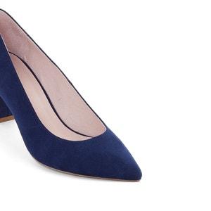 Zapatos de piel con tacón ancho R essentiel