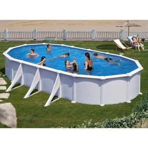 Piscine acier blanc Atlantis ovale 7,30 x 3,75 x 1,32 m - Gré GRE