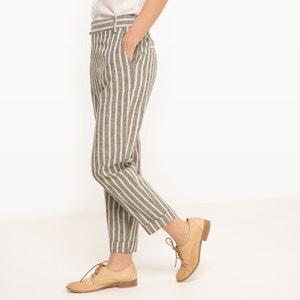 Pantaloni a righe, lino R studio