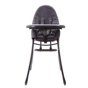 Chaise Haute NANO - Chassis Noir et Assise Denim BLOOM