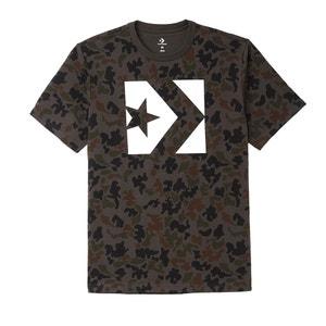 T-Shirt mit rundem Ausschnitt, Motiv vorne CONVERSE